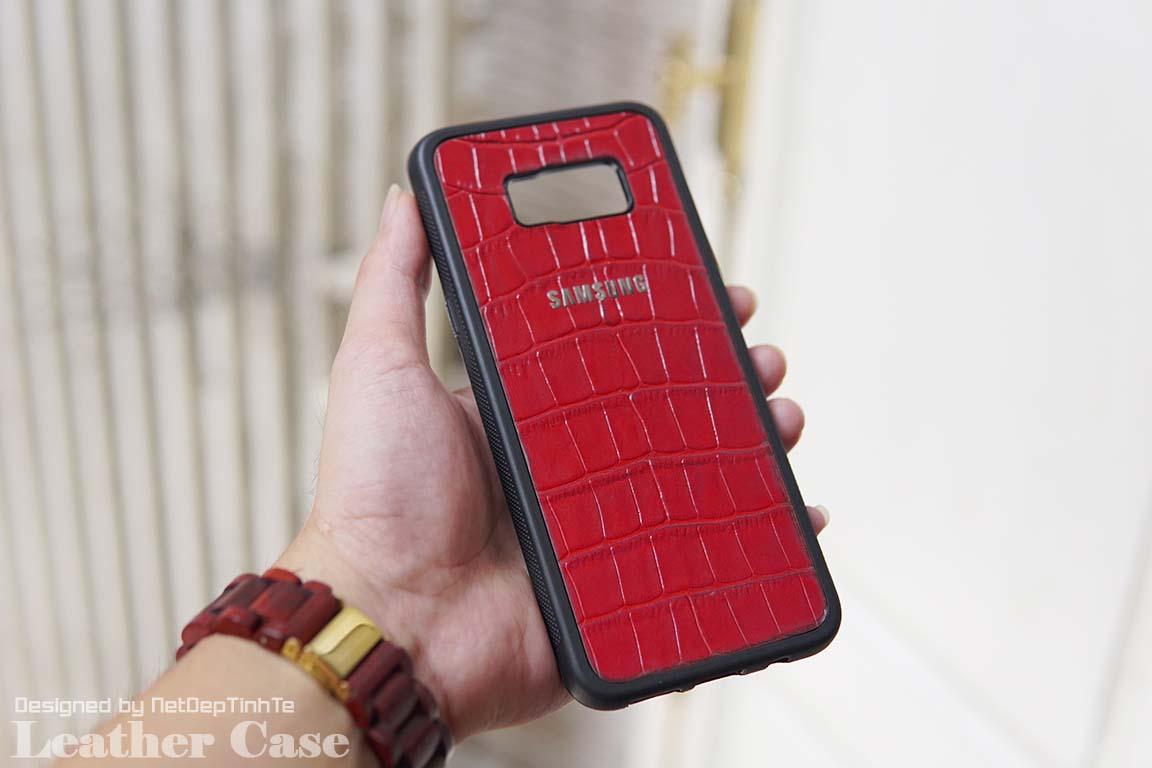 Ốp da điện thoại Samsung S8 Plus